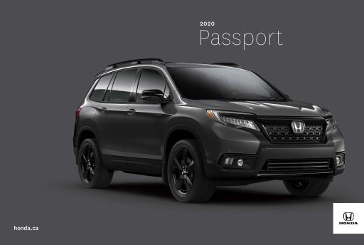 2020 Honda Passport Price Specs Review Discovery Honda Canada